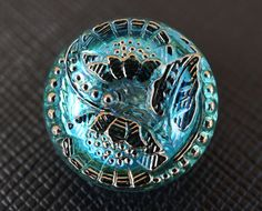 Hey, I found this really awesome Etsy listing at https://www.etsy.com/listing/154146561/hand-made-art-czech-glass-buttons-blue