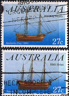 Stamps of Australia Day 1983 Ships Set Fine Used