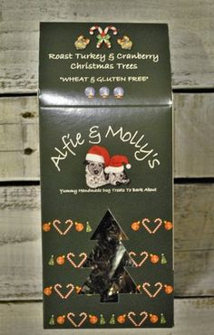 Alfie & Molly's Bakery Hand made Grain free UK made Turkey Trees Biscuit Christmas Dog Treat