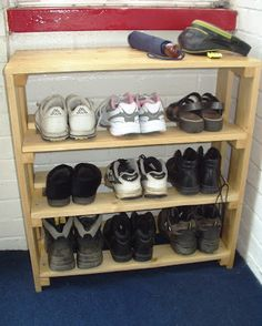 how to make a shoe rack out of shoe boxes