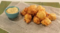 Emeril Lagasse's Crab and Corn  Fritters with Fresh Corn  Mayo