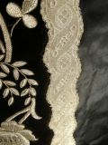 Antiques Dream - French collectibles : Antique Chasuble Black Velvet and silk Silver Embroidered N°243.
