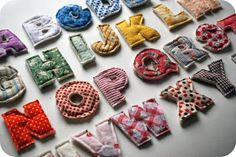 how to sew plush letters with a magnet inside