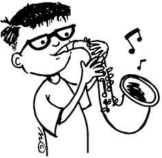 Sax cartoon