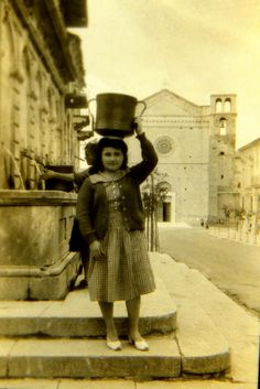 Girl with large conca circa 1949 in Fossacesia