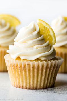 Homemade Lemon Cupcakes with Vanilla Frosting - Sallys Baking Addiction