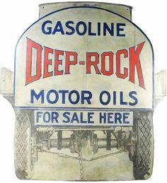 Gasoline Deep-Rock Motor Oils For Sale Here Sign