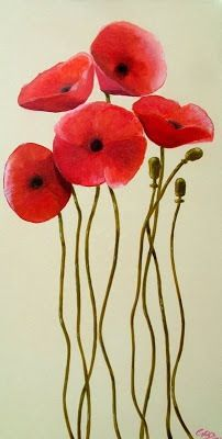Something similar to this for metal poppy wall art design
