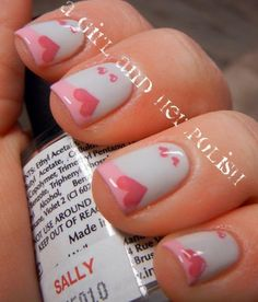 French is the language of love, and we're willing to bet the same can be said of a French manicure (with a twist). #ValentinesDay #NailArt