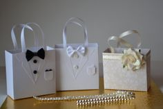 Tuxedo party favor bag great for wedding favors by steppnout, $3.50