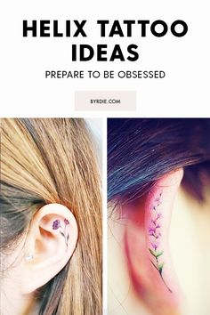 tattoo tattoo ideas The Tiny Tattoo Trend That's P Little Tattoos, Mini Tattoos, Flower Tattoos, Body Art Tattoos, Small Tattoos, Ear Tattoos, Sleeve Tattoos, Tatoos, Diy Tattoo