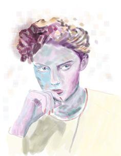 #ilustration #art #color #ps #digital #hamburguer #floral #flower