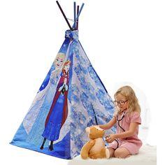 Disney Frozen Princess Teepee Tent Kids Toys Girls Pretend Play Dress up Girls Disney Play, Disney S, Disney Frozen, Frozen Canvas, Canvas Fabric, Cotton Canvas, Frozen Kids, Frozen Sisters, Indoor Tents