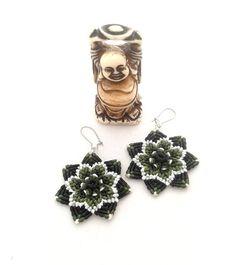 Mandala handmade macramé earrings Urban by byLaughingBuddha
