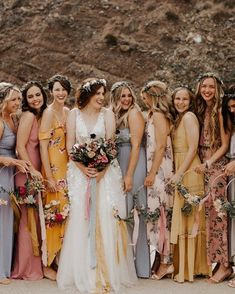 103f8fd4c509ac Deep Wine + Berry Florals Shine in this Romantic Autumn Wedding.  Alternative Bridesmaid DressesMismatched ...
