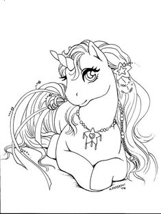 unicorn line art by Qwaychou Unicorn Coloring Pages, Horse Coloring Pages, Cute Coloring Pages, Coloring Pages To Print, Coloring Pages For Kids, Coloring Books, Unicorn And Fairies, Unicorn Art, Coloring Pages For Grown Ups