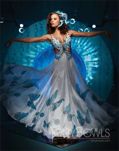 Paris By Tony Bowls Butterfly dress