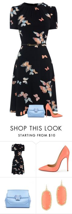 """""""schmetterling"""" by divacrafts ❤ liked on Polyvore featuring Christian Louboutin, Versace, Kendra Scott and Original"""