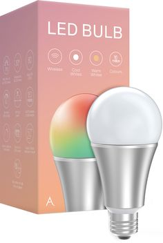 Connected LED lightbulb powered by Z-Wave offering perfect whites and RGBW colours.