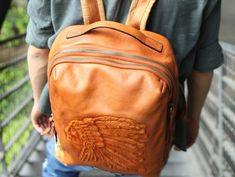 48e24ef69475 Cool Leather Mens Backpacks Travel Backpack School Backpacks for men