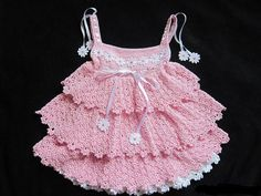 Children's dress wavy spider style crochet by TinasHandicraftGr