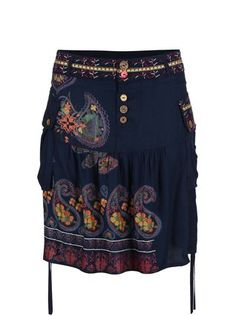Desigual - Tmavě modrá balónová sukně Praga - 1 456cc36d499