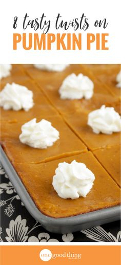 8 Heavenly Pumpkin Pie Inspired Recipes You Need To Try Looking to shake things up at your Thanksgiving dinner? Make one of these 8 mouthwatering recipes inspired by pumpkin pie for your dessert course. Pumpkin Pie Cake, Pumpkin Pie Recipes, Pumpkin Dessert, Pie Dessert, Tart Recipes, Pumpkin Pies, Veggie Recipes, Healthy Recipes, Köstliche Desserts