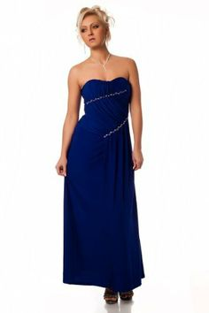 Celebrity style dress royal blue long bandeau with detachable strap padded bust cocktail dress silver diamante one size formal, wedding prom bridesmaid evening gown, masi full length blue fit uk 8 -12 italy gownplanet, http://www.amazon.co.uk/dp/B00A7IFK28/ref=cm_sw_r_pi_dp_.vg4sb1E5MYNX