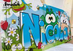 Decorazioni Per Camerette Per Bambini : Fantastiche immagini in quadri col nome per bambini su