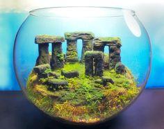Stonehenge Ancient Ruins  Fantasy Terrarium / by Megatone230, $114.00.  AMAZING!!