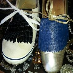 Custom made leather shoe Kilties for Gals & Dudes! At The Attic in Columbus, MS