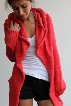 Souchi stewart cotton cardigan with hood, I want this maybe in different color.