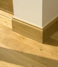 Oak skirting boards, matching flooring