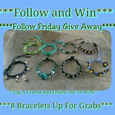 Visit my Instagram page @creativeearthdana for my BIG give away!! Follow me and tag a friend to be entered to win one of 8 bracelets!! Giveaway ends Saturday January 18th at 4:20pm Mountain Time!! Have fun and good luck!!