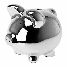 Present Time Ceramic Medium Pig Money Bank, Chrome Tech Accessories, Decorative Accessories, Bling Bling, Pig Bank, Suze Orman, Mini Pig, Money Bank, Cute Piggies, Teacup Pigs