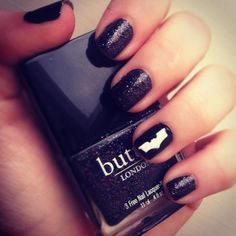 Batman Nails with Butter LONDON The Black Knight
