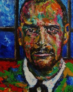 "The Color of Paul Klee (Portrait of Paul Klee), Oil on Canvas 20x16"", © Copyright 2011 Alan Derwin"