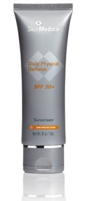 Everything you've been searching for in a sunscreen is now available. SkinMedica Daily Physical Defense SPF 30+ is an ultra-sheer, broad-spectrum sunscreen in an elegant 100% mineral formulation. The oil-free texture is light enough to wear under makeup and the formula is hypoallergenic, fragrance-free, PABA-free, and non-comedogenic. It's even gentle enough for those with post-procedure and sensitive skin. $45