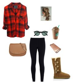 """""""Untitled #50"""" by chloe-madison-barnes on Polyvore featuring Rails, NIKE, UGG Australia, MICHAEL Michael Kors, Ray-Ban, women's clothing, women, female, woman and misses"""