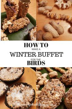 Winter Buffet for the birds. How to make a selection of bird feeders to help our little friends this winter. We started by. Advent Activities, Winter Activities, Activities For Kids, Nature Activities, Christmas Activities, Bird Crafts Preschool, Crafts For Kids, Kids Diy, Buffet