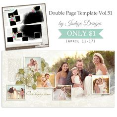 New Double Page Templates Vol.51 by Indigo Designs – ONLY $1 until April 17!  In PSD, PNG, PAGE and TIF formats.  SHOP HERE http://www.gottapixel.net/store/manufacturers.php?manufacturerid=152  photo by Iga Logan