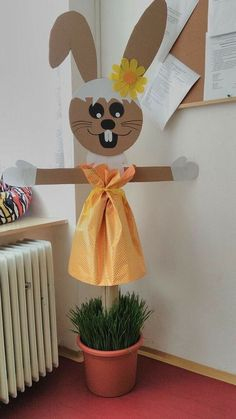 DIY Easter Crafts for Kids to Make - DIY Cuteness diy for kids Craft Stick Crafts, Preschool Crafts, Diy And Crafts, Paper Crafts, Crafts For Kids To Make, Easter Crafts For Kids, Kids Diy, Bunny Crafts, Flower Crafts