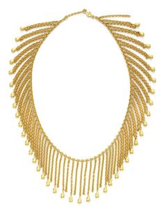 A Gold, Graduated Fringe Necklace, by Van Cleef & Arpels, circa 1980.  Available at FD Gallery.   www.fd-inspired.com