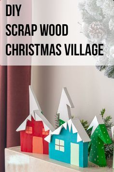 Easy DIY Christmas village display using scrap wood. Love the ideas using wood to make these Christmas decorations. Great tutorial of a fun winter scene! Wood Projects For Beginners, Scrap Wood Projects, Beginner Woodworking Projects, Diy Projects, Diy Christmas Village Displays, Outdoor Christmas Decorations, Christmas Crafts, Christmas Ornaments, White Christmas