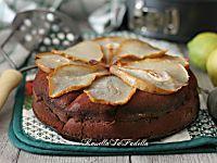 Torta pere e cacao, ricetta senza burro nè olio facile e golosa