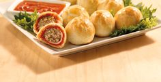 Italian Meatball Dunkers » Simek's | Home of the Magical Meatball™ Mini Meatballs, Italian Meatballs, Italian Dunkers, Meatball Marinara, Marinara Sauce, Meatloaf Recipes, Meatball Recipes, Pie Crust Dough, Pie Crusts