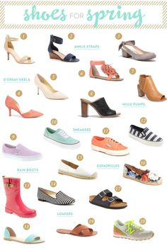 Must Have Shoes for Spring —  For more inbetweenie and pus size inspiration go to www.dressingup.co.nz