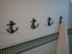 Anchor towel hooks! Obsessed