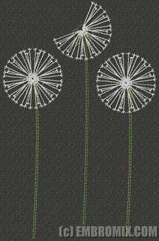 Dandelions +1 Embroidery Design..