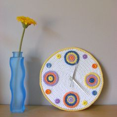 crochet clock pattern